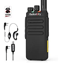 Radioddity GD-77S Walkie-Talkie, Bibanda con Dual Time Slot DMR Digital / Analógico con 1024 Canales y compatible con MOTOTRBO