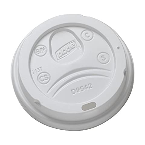 Dixie 9542500DX WiseSize Dome Lid for 10-16 oz PerfecTouch Cups and 12-20 oz Paper Hot Cups, White (Case of 10 Sleeves, 50 Lids per Sleeve)