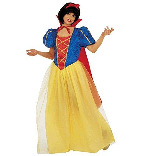 WIDMANN Costume Biancaneve Principessa delle Favole per Bambina, Taglia 5/7 Anni