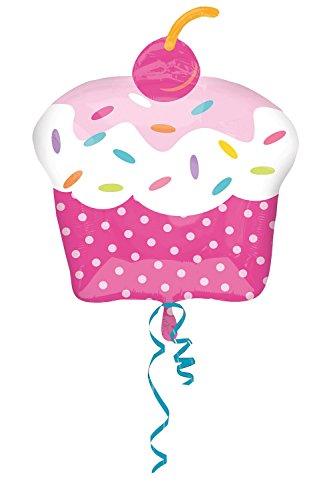 Anagram 2930501 - Party und Dekoration - Folienballon Super Shape - Cupcake Party, circa 48 x 71 cm