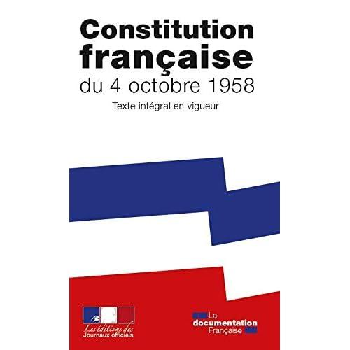 La Constitution de la Cinquième République - Texte intégral après la révision de mars 2016