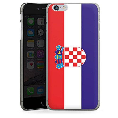 Apple iPhone X Silikon Hülle Case Schutzhülle Kroatien Flagge Fußball Hard Case anthrazit-klar