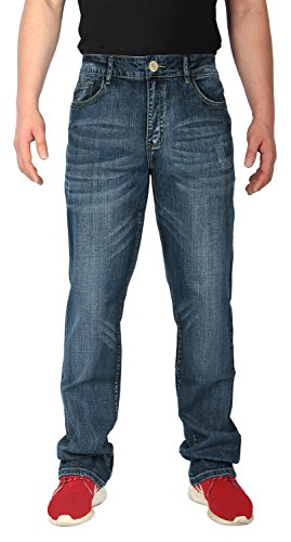 iLoveSIA-Pantaloni Denim Jeans gamba dritta Mid-Rise Sneaker Light Blue W40