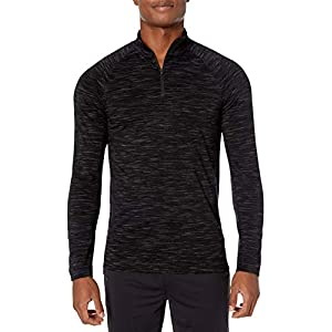 Amazon-Marke: Peak Velocity Herren athletic-shirts Merino Jersey Quarter-zip Mock-neck Long Sleeve