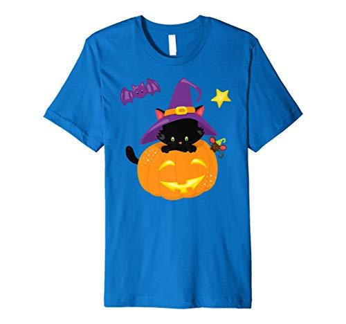 Katze Kürbis Fledermaus und Mäuse Halloween-T-Shirt für Kinder