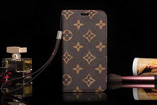 jiehao Schutzhülle für Apple iPhone 6,6s, iPhone 7, Brown Big Flower (Louis Handy Fall Iphone 4 Vuitton)