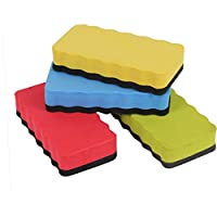 Befaith Random Colors Magnetic Blackboard Eraser Foam Eraser Chalk Brush Whiteboard Dry Wipe Cleaner Erasers