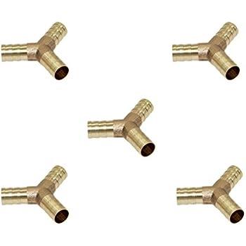 6mm 5er-Set Messing T-Stück Schlauchverbinder Durchmesser