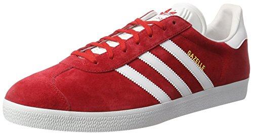 adidas Herren Gazelle Sneaker Rot (Scarlet/Ftwr White/Gold Metallic)