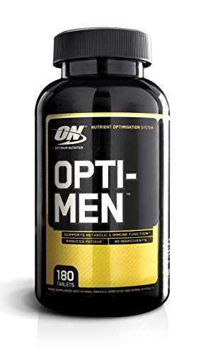 Optimum Nutrition Optimen Multivitamin und Mineralien Tabletten (mit Vitamin D, Vitamin C, Vitamin B12 & Aminosäuren, Multivitaminen von ON) Unflavoured, 60 Portionen 180 Kapseln