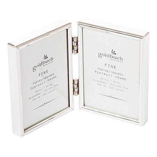 Goldbuch Galerierahmen, Fine, Für 2 Bilder im Format 6x9, Metall, Silberfarben, 960266