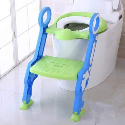 Dwhui Portatile Bambino Vasino Sedile con Scaletta Bambini WC Copertura Sedili Bambini Toilette Pieghevole Vasino Sedia Formazione