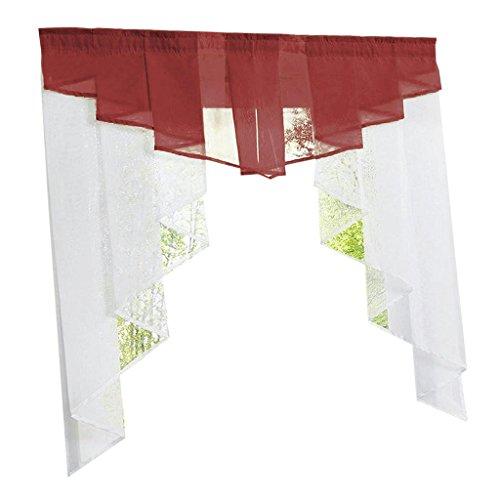 Fenteer tenda romana, tenda tulle, tenda tulle romana, tenda a pacchetto, tende per finestre - rosso scuro 100wx100h