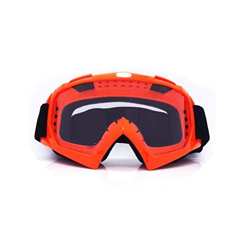 Fahrrad Schutzbrille Motorradausrüstung Off Road Brille Skibrille Brille Helm Reiten Outdoor Brille Orange Transparent Damen Herren