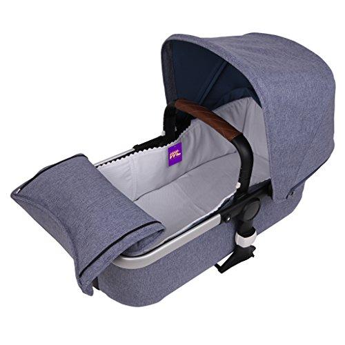 Tititnins® - Funda Capazo Velcro Bugaboo Fox PIQUE BLANCO - Acolchado Transpirable- (100% Algodón)