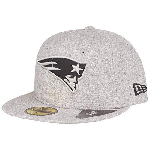 7 1/4 Ausgestattet Cap Hut (New Era NFL Heather 59Fifty Cap New England Patriots Grau, Size:7 1/4)