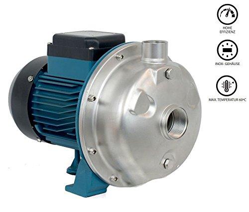 Edelstahl Hochleistungs Wasserpumpe 12000 l/h Gartenpumpe Kreiselpumpe 60°C NEU