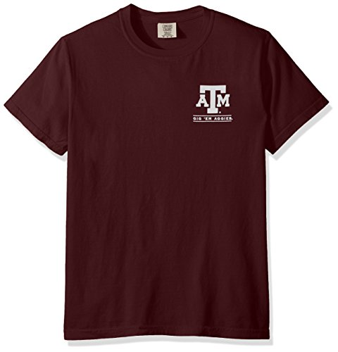 New World Grafiken Texas A & M NCAA Puff Arch Short Sleeve, Unisex, Texas A&M Puff Arch, Cc Berry Texas A&m University Atm