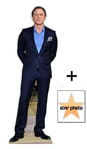 Daniel Craig Ventilateur Pack–Silhouette en Carton Grandeur Nature + Photo 25x 25x 20Cm