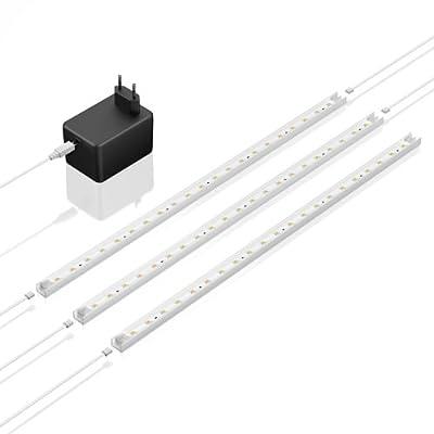 3er LED-Leisten-Set von parlat je 43cm, warm-weiß, inkl. Netzteil von LEDs Com GmbH auf Lampenhans.de
