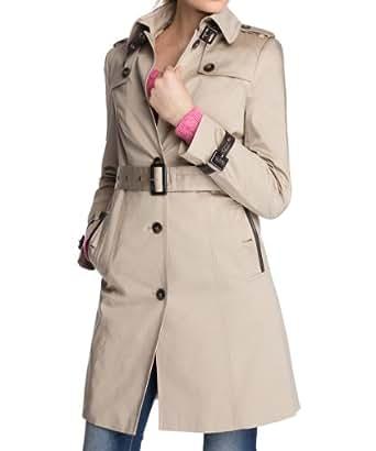 ESPRIT Collection Damen Trench Coat Regular Fit 014EO1G023, Gr. 36, Beige (204 ROPE BEIGE)