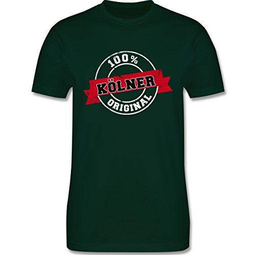Städte - Kölner Original - Herren Premium T-Shirt Dunkelgrün