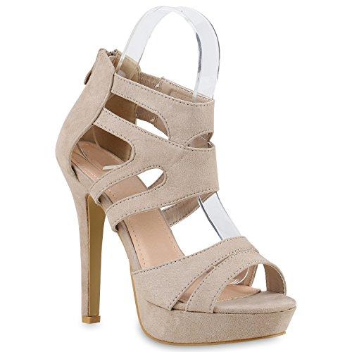 buy online 18b2d 8a864 Schicke Damen Sandaletten Sandalen mit Keilabsatz ...