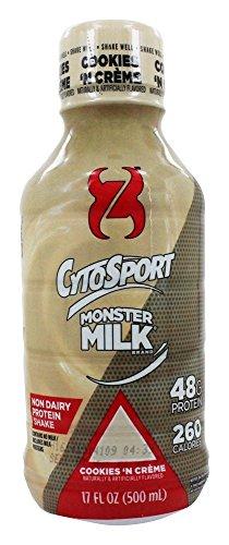 Cytosport - Monster latte RTD Protein Shake Cookies ' Creme - oz 17 n.
