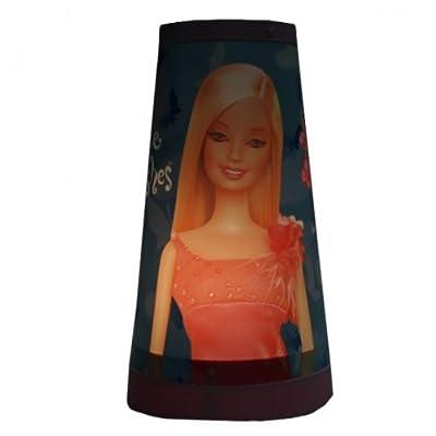 Mattel BARBIE Kinderlampe (C) Magische Tischlampe Nachtlicht Nachttischlampe Lampe Kinderzimmer von Mattel - Lampenhans.de