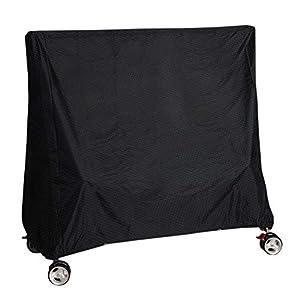 Vzesok Schutzhülle Abdeckung für Tischtennisplatte Ping Pong Tisch Outdoor wasserdichte Oxford Gewebe Schwarz 165 x 70 x 185cm