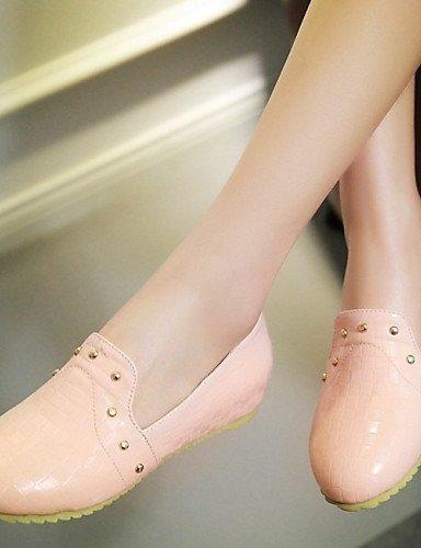 ShangYi gyht Scarpe Donna - Mocassini - Tempo libero / Formale / Casual - Comoda - Piatto - Finta pelle - Nero / Rosa / Beige Black