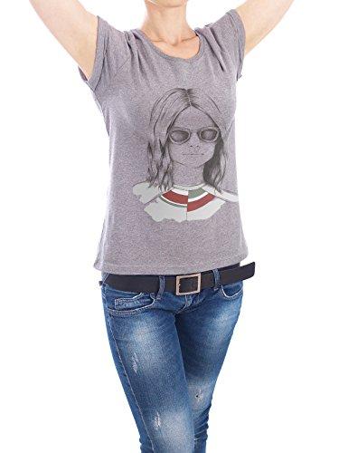 """Design T-Shirt Frauen Earth Positive """"Waldmädchen"""" - stylisches Shirt Menschen Fashion von Smuk Leve Grau"""