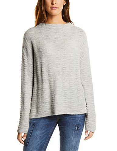 Street One Damen Pullover Grau (Cyber Grey Melange 10767)