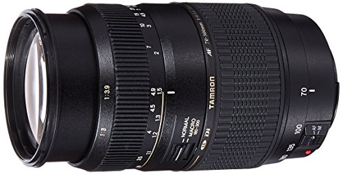 Tamron AF 70-300mm F/4-5.6 Di LD Macro Telephoto Zoom Lens with Hood for Canon DSLR Camera