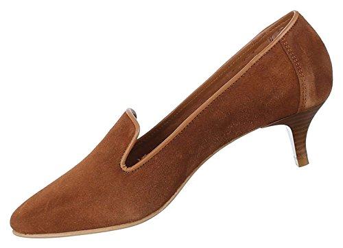 Damen Schuhe Pumps Bequeme Komfort Leder Modell Nr.2Camel