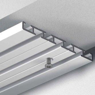 Hervorragend Amazon.de: Dekoline Gardinenschiene Vorhangschiene, Aluminium  UY16