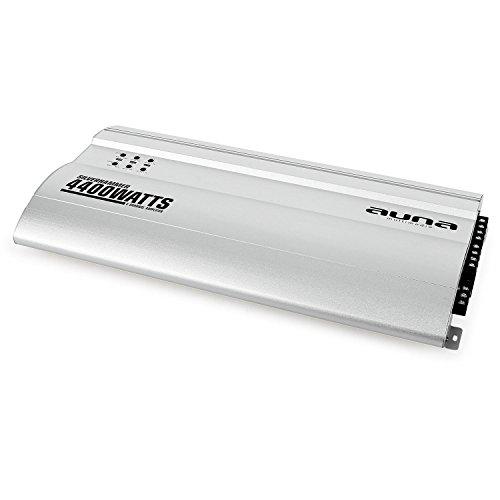 AUNA Silverhammer Amplificador para Coche - 4 Canales, 4400 W Máx, Puenteable,...