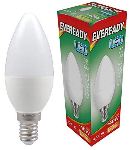 Eveready 5x 6w LED SES Opal Kerze - 470lm's - 830/3000k - Warmweiß -