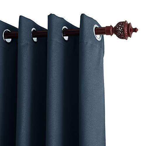 Deconovo tende oscuranti termiche isolanti con occhielli per il soggiorno blu scuro 140x240 cm un pannello