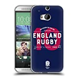 Head Case Designs Offizielle England Rugby Union Nummer 10 2018/19 Typografie Soft Gel Hülle für HTC One M8 / M8 Dual SIM