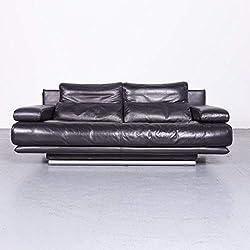 Rolf Benz 6500 Designer Leder Sofa Lila Echtleder Zweisitzer Couch #6945