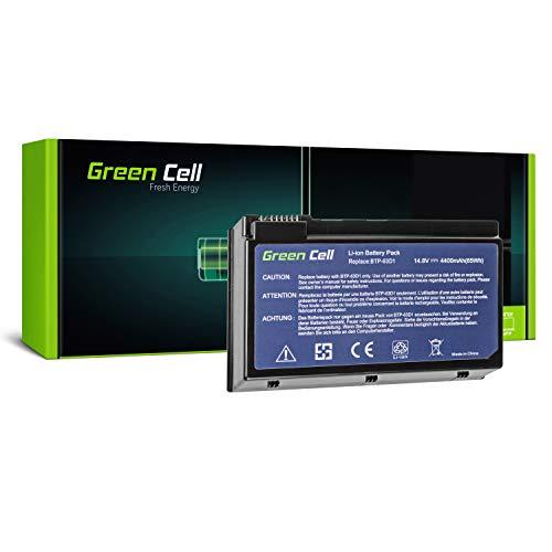 Green Cell BTP-63D1 BTP-96H1 BTP-98H1 BTP-AHD1 Laptop Akku für Acer TravelMate 2410 2412 4400 C300 C310 | Acer Aspire 3020 3610 5020 (8 Zellen 4400mAh 14.8V Schwarz)