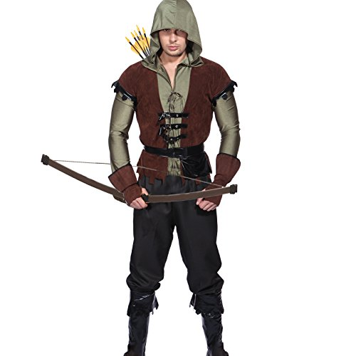 Maboobie - Disfraz para adultos, diseño de RObin Hood arquero, tallas S/M