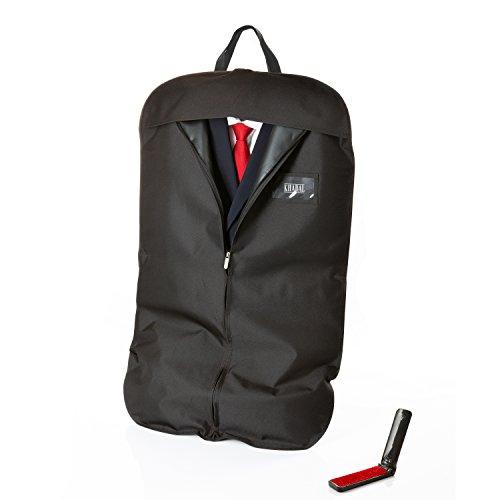 KHADAL Premium Kleidersack für bis zu 3 Anzüge | hochqualitative & Wasserabweisende Anzugtasche...