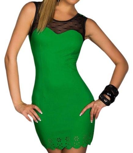 Pinkyee Damen Strandkleid Grün