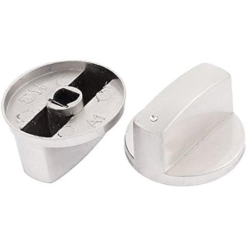 Estufa De Gas Cocina Horno Mando De Temperatura Interruptor Rotatorio Pomos Grip 2 Piezas