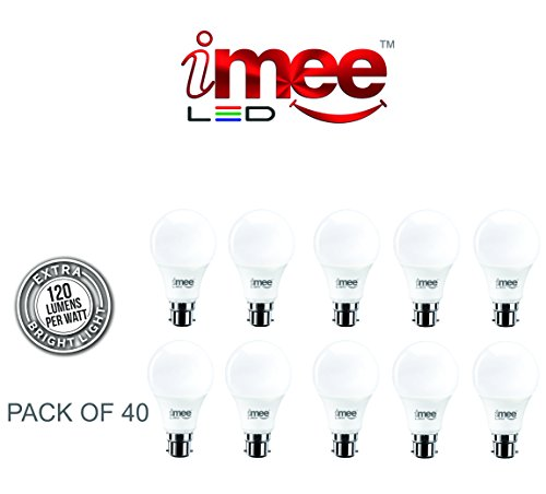 iMee 3 Watts Unbreakable LED Bulb 120 Lumens Per Watt (Pack of 40, Cool Day Light)  available at amazon for Rs.3729