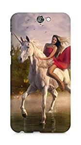 Amez designer printed 3d premium high quality back case cover for HTC One A9 (Girl Riding Horse)