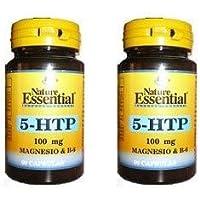 Triptofano 5-Htp + Magnesio + Vitamina B6 100 mg 60 cápsulas (Pack 2