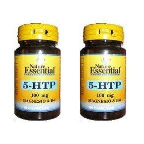 Triptofano 5-Htp + Magnesio + Vitamina B6 100 mg 60 cápsulas (Pack...